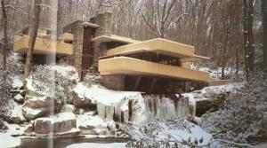 Fallingwater musim salju