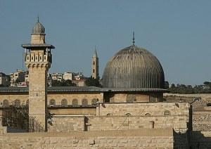 Kubah hijau Masjid Aqsa