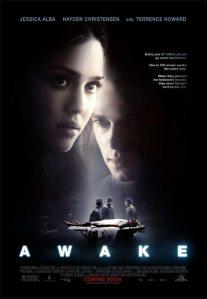 """Poster film """"Awake"""" yang dibintangi Hayden C, Terence Howard dan Jesica Alba"""