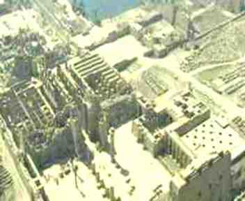 Kompleks kuil Karnak dilihat dari atas.