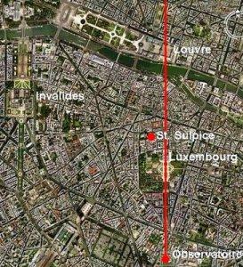 Lingkungan sekitar Museum Louvre ( dari atas ).
