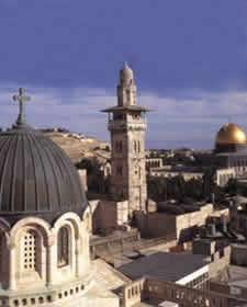 Nasrani, Yahudi dan Muslim di Yerusalem.