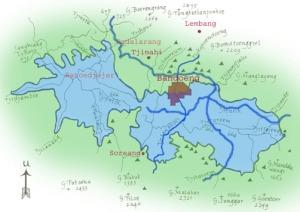 Peta danau Bandung