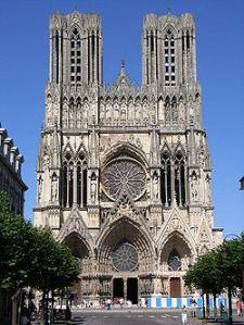 Reims Kathedrale bergaya gothik