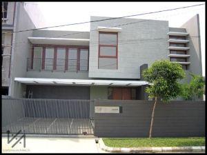 Rumah bergaya minimalis di Bandung.