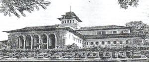 Taman belakang Gedung Sate, Bandung, dahulu.