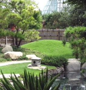 Taman bergaya minimalis.