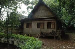 Rumah adat Cikondang tak bergeming diguncang gempa. Kearifan lokal yang membanggakan.