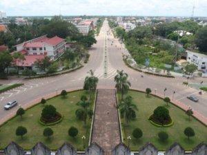 Ruang terbuka di Vientianne, Laos.