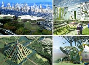 Desain green architecture yang futuristik. Siap menantang jaman. Dengan pemanfaatan teknologi canggih untuk menghemat energi.